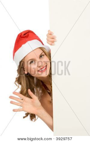 Blank Sign Mrs Santa Claus