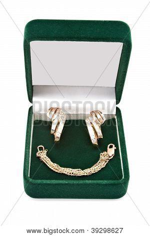 Gold Earrings And Bracelet