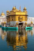 stock photo of harmandir sahib  - Sikh gurdwara Golden Temple  - JPG