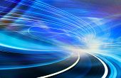 stock photo of tunnel  - Abstract speed technology background illustration - JPG