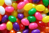 picture of jelly beans  - jelly eggs of various colors are displayed - JPG