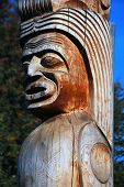 pic of indian totem pole  - Part of a Totem Pole in Grouse Mountain of Victoria Island - JPG