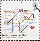 UNITED KINGDOM - CIRCA 2009: A stamp printed in Great Britain dedicates to Design Classics shows Lon
