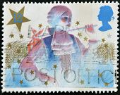 UNITED KINGDOM - CIRCA 1985: A stamp printed in Great Britain shows image of the principal boy in a