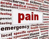 pic of medical condition  - Pain medical poster design - JPG