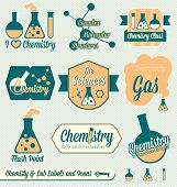 image of boiling point  - Collection of retro style chemistry class labels and stickers - JPG