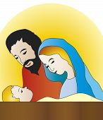 image of christchild  - illustration of nativity with jesus - JPG