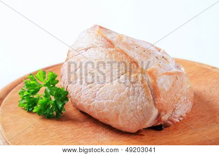 Dietetic grilled meat on a cutting board
