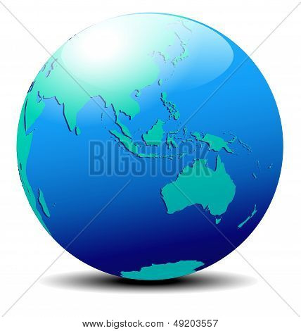 Asia And Australia, Global World