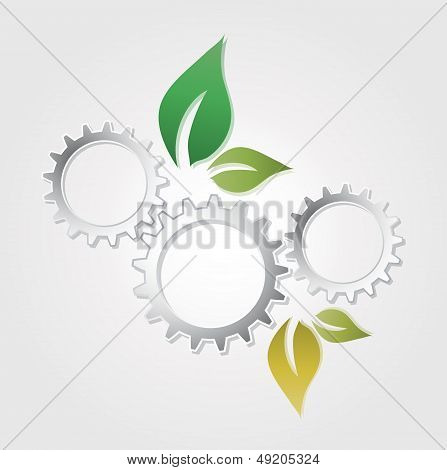 abstract eco gear leaf  presentation