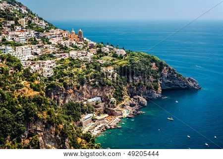 View Of Praiano. Italy