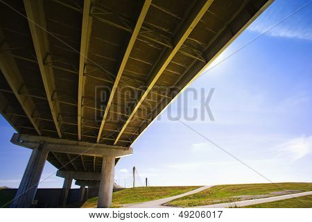 Mississippi USA bridge low angle view