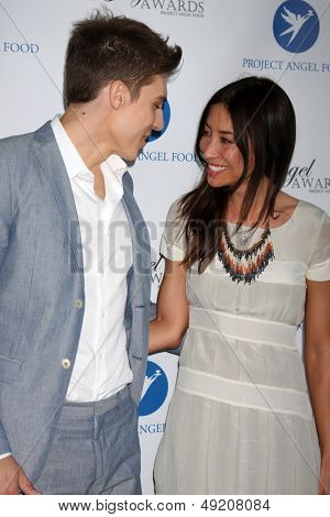 LOS ANGELES - AUG 10:  Nolan Funk, guest at the Angel Awards at the Project Angel Food on August 10, 2013 in Los Angeles, CA