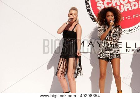 LOS ANGELES - AUG 9:  Perrie Edwards, Leigh-Anne Pinnock at the Teen Vogue's Back-To-School Saturday Kick-Off Event at the The Grove on August 9, 2013 in Los Angeles, CA