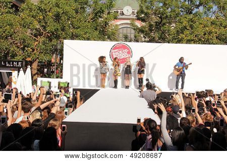 LOS ANGELES - AUG 9:  Leigh-Anne Pinnock, Jade Thirwall, Perrie Edwards, Jesy Nelson, Little Mix at the Teen Vogue's Event at the The Grove on August 9, 2013 in Los Angeles, CA