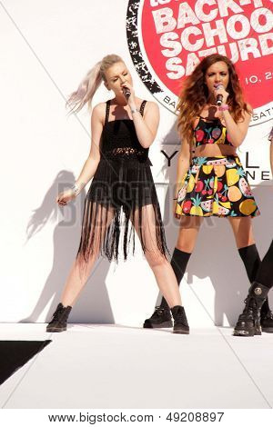 LOS ANGELES - AUG 9:  Perrie Edwards, Jade Thirlwall at the Teen Vogue's Back-To-School Saturday Kick-Off Event at the The Grove on August 9, 2013 in Los Angeles, CA
