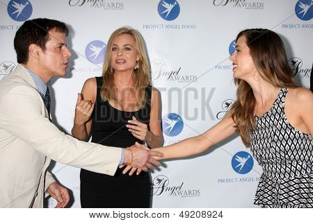 LOS ANGELES - AUG 10:  Christian LeBlanc, Jessica Collins, Eliza Dushku at the Angel Awards at the Project Angel Food on August 10, 2013 in Los Angeles, CA