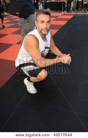 LOS ANGELES - AUG 9:  Jay Harrington at the Josh Hutcherson Celebrity Basketball Game benefiting Straight But Not Narrow at the Nolia Plaza on August 9, 2013 in Los Angeles, CA