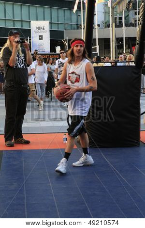 LOS ANGELES - AUG 9:  CIsco Adler at the Josh Hutcherson Celebrity Basketball Game benefiting Straight But Not Narrow at the Nolia Plaza on August 9, 2013 in Los Angeles, CA