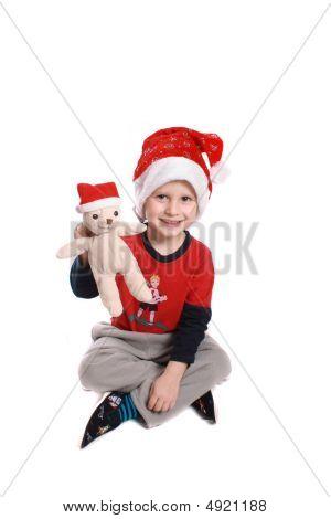 Boy And Bear Like Santa