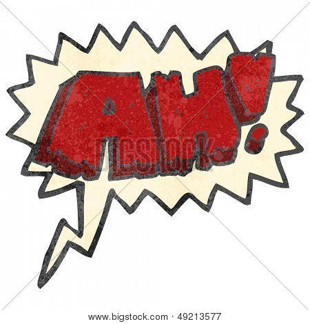 retro cartoon comic book AH! shout