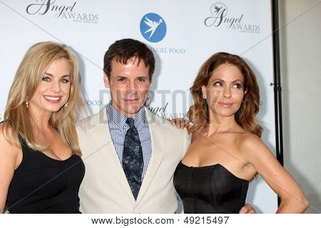 LOS ANGELES - AUG 10:  Jessica Collins, Christian LeBlanc, Lisa LoCicero at the Angel Awards at the Project Angel Food on August 10, 2013 in Los Angeles, CA