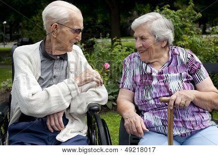 In Love Senior Couple