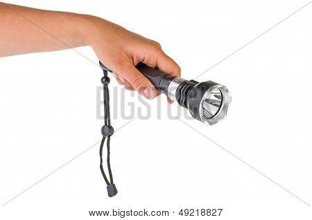 Hand hold powerful LED flashlight