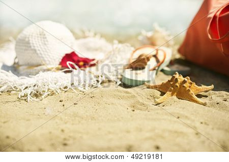 Collection of beach items