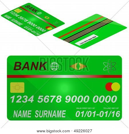 Template Of Credit Of Card.