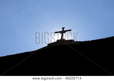 Silhouette Of A Cross.