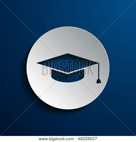 Vector illustration of square academic cap