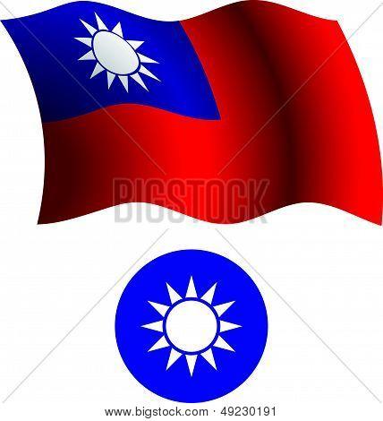 Taiwan Wavy Flag And Coat