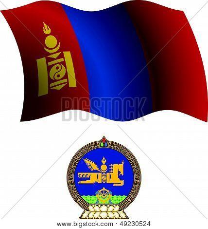 Mongolia Wavy Flag And Coat