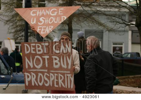 Tea Party 2009 Debt Sign