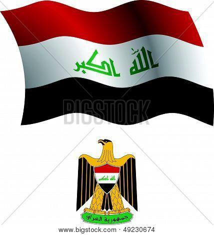 Iraq Wavy Flag And Coat