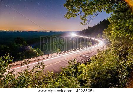 Linn Cove Viaduct In Blue Ridge Mountains