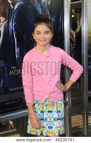 LOS ANGELES - AUG 12: Landry Bender at the premiere of Screen Gems & Constantin Films' 'The Mortal Instruments: City of Bones' at ArcLight Cinemas Cinerama Dome on August 12, 2013 in Hollywood, CA