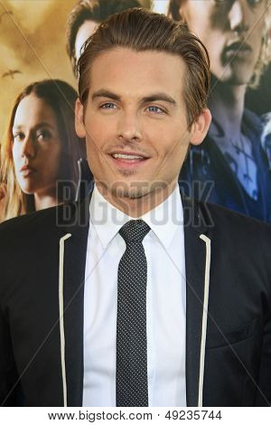 LOS ANGELES - AUG 12: Kevin Zegers at the premiere of Screen Gems & Constantin Films' 'The Mortal Instruments: City of Bones' at ArcLight Cinemas Cinerama Dome on August 12, 2013 in Hollywood, CA