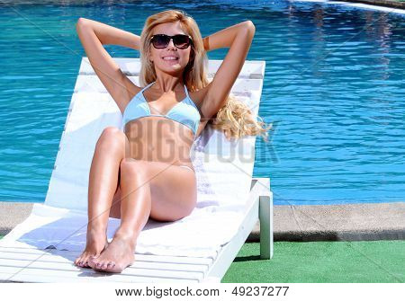 Woman In Poolside