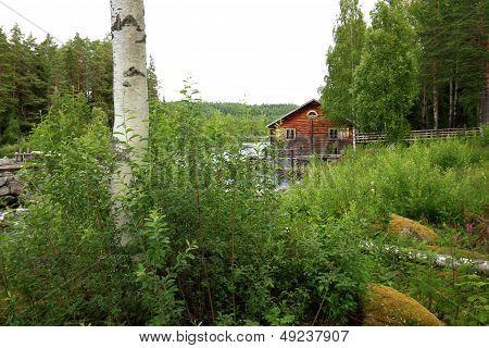 ancient fishing camp near running water
