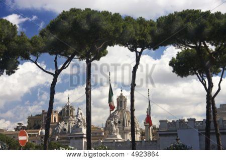 Church Santa Maria Di Loreto Under Stone Pines