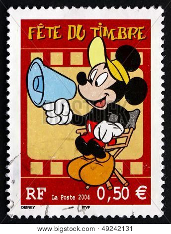 Postage Stamp France 2004 Mickey Mouse, Comic Character