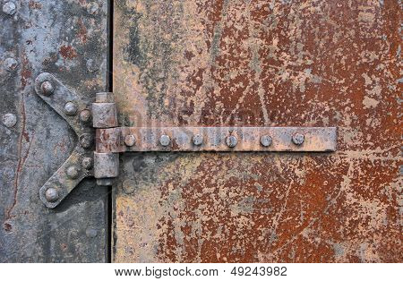 Rusry Metal Door