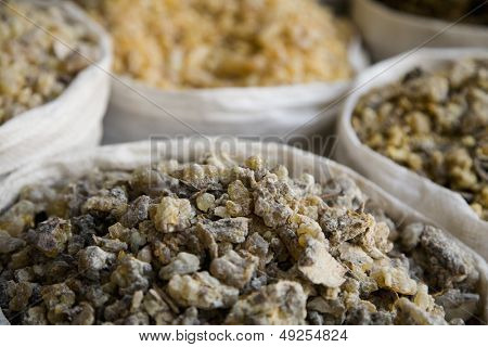 UAE Dubai frankincense and other spices for sale in the spice souq in Deira