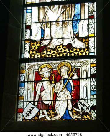 Stained Glass, Religious Scenes,