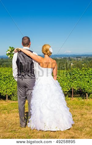 Bride And Groom With Fabulous View