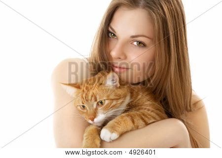 The Woman With A Cat