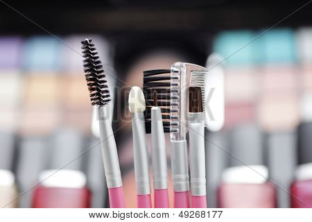 various make-up brushes - beauty treatment /shallow DOFF/