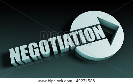 Negotiation Concept With an Arrow Going Upwards 3D